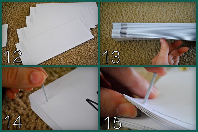 How to Assemble & Bind DomanMom's Printable Lift-a-Flap Early Reader Books
