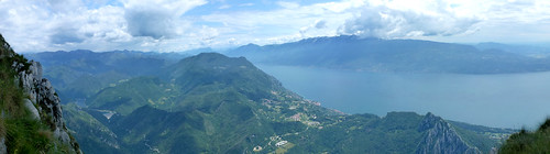 Gargnano, Monte Baldo, Garda lake from pizzocolo