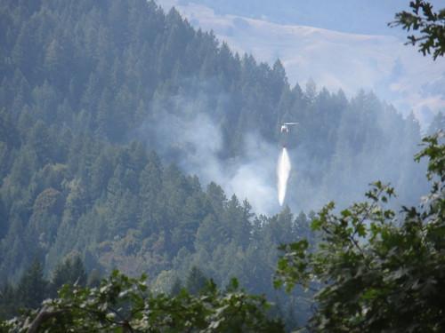 Jewett Rock Fire Dropping Water