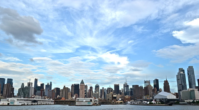Manhattan skyline in the day