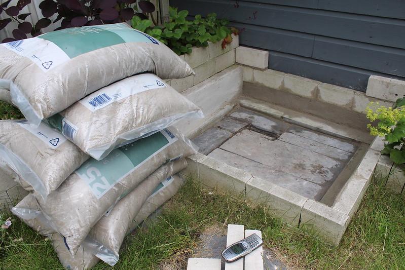 Cement moet nog drogen