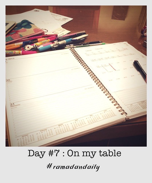 Day #7 : on my table