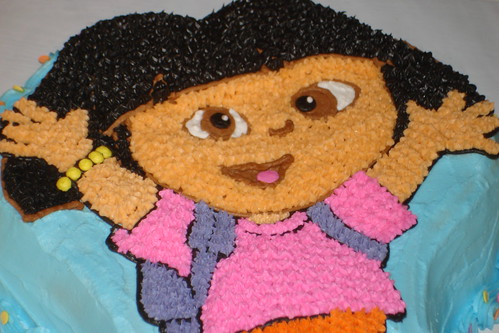 Dora the Explorer Shaped Cake by melissatarun