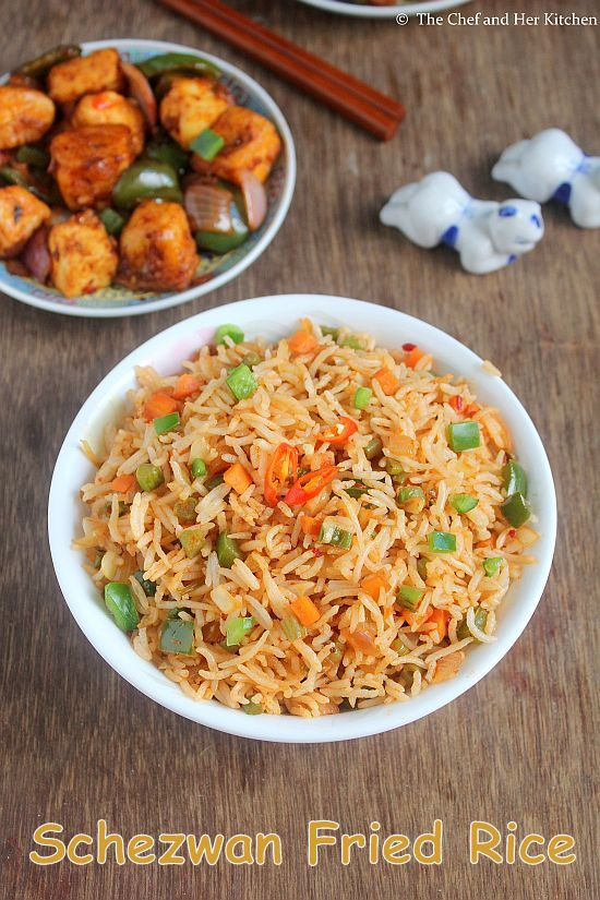 THE CHEF and HER KITCHEN: Schezwan Fried Rice Recipe | Veg ...