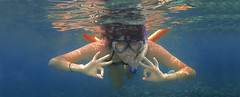 Snorkeling Yoga Girl