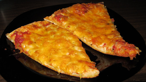 Monterey jack and cheddar pizza by Coyoty