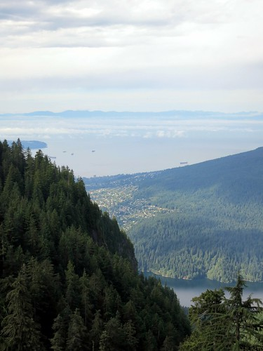 View over Capilano Lake from Grouse Mountain