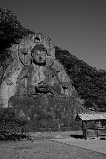 fine day and huge stone Buddha