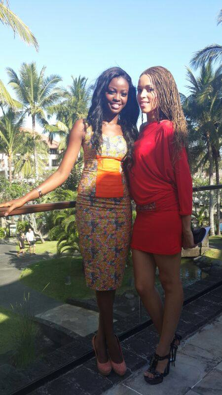 Miss Ghana 2012 Naa Okailey Shooter at Miss World 2013