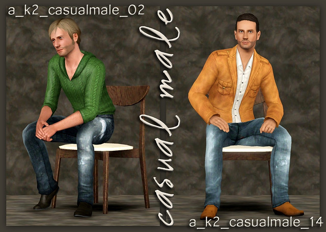 Casual Male - Poses 02 and 14