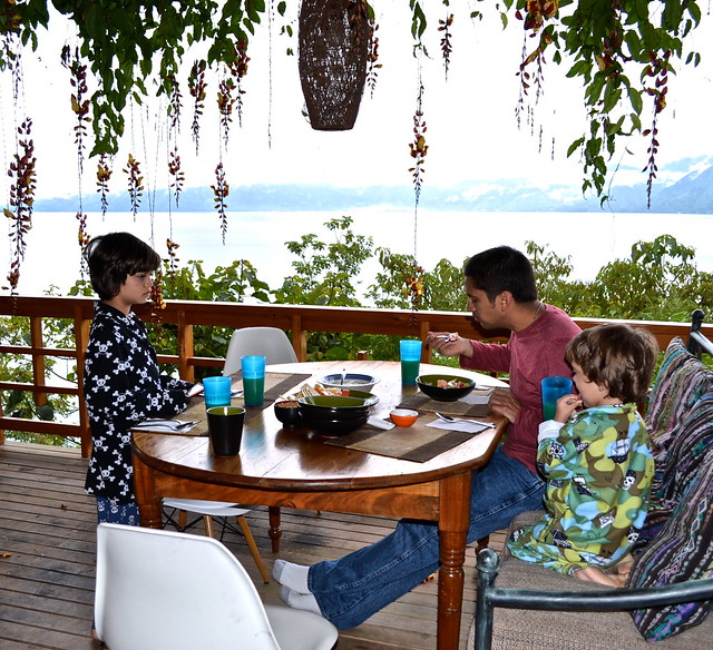 Breakfast on the Porch, Balam Ya, Luxury Villas, Lake Atitlan, Guatemala
