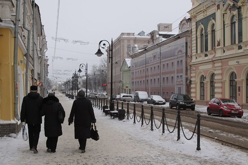 Walking around the old town of Nizhny Novgorod