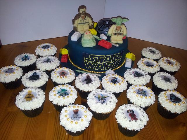 Star Warz Lego Characters cake & cupcakes | Flickr - Photo Sharing!