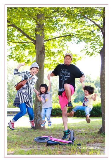 ファミリーフォト 家族写真 子供写真 キッズフォト 公園 屋外撮影 自宅 出張女性カメラマン マタニティ写真 名古屋市守山区 小幡緑地公園
