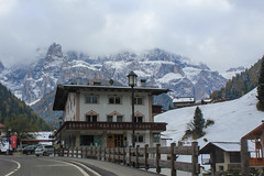 Italian ski town in the Dolomites