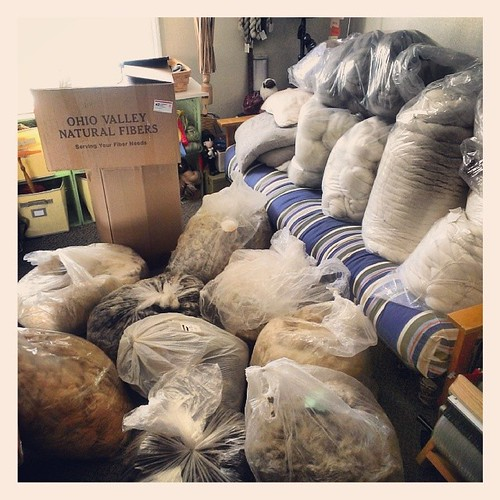 Have things gotten out of hand? #wool #fleece # fiber #stash