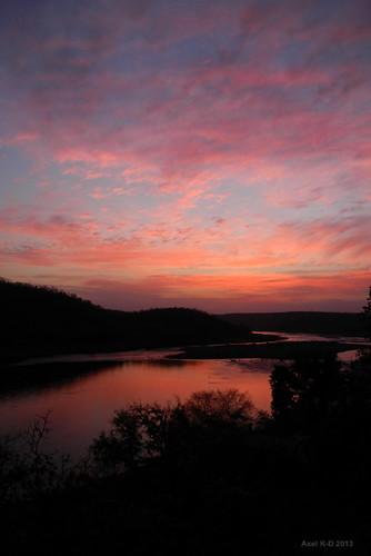 sunset india rivière mp madhyapradesh omkareshwar coucherdesoleilleverdesoleil