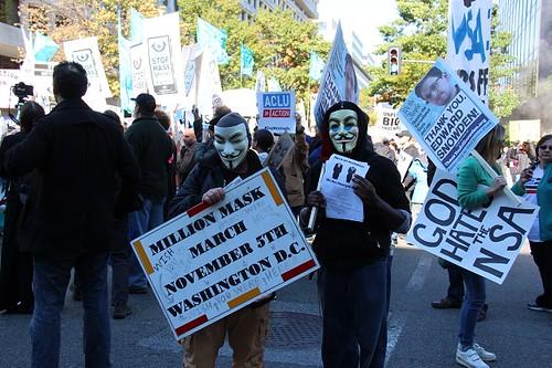 million masks at stop watching us