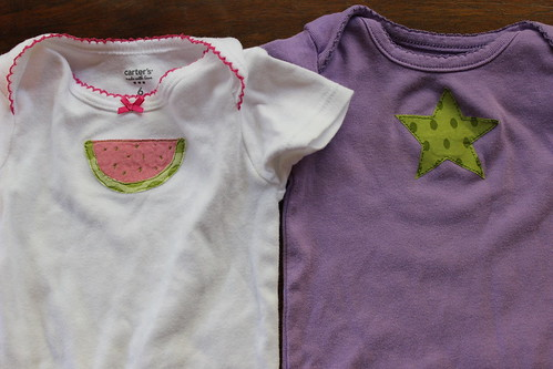 watermelon and star onesies
