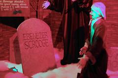 Ebenezer Scrooge Seeing His Own Tombstone