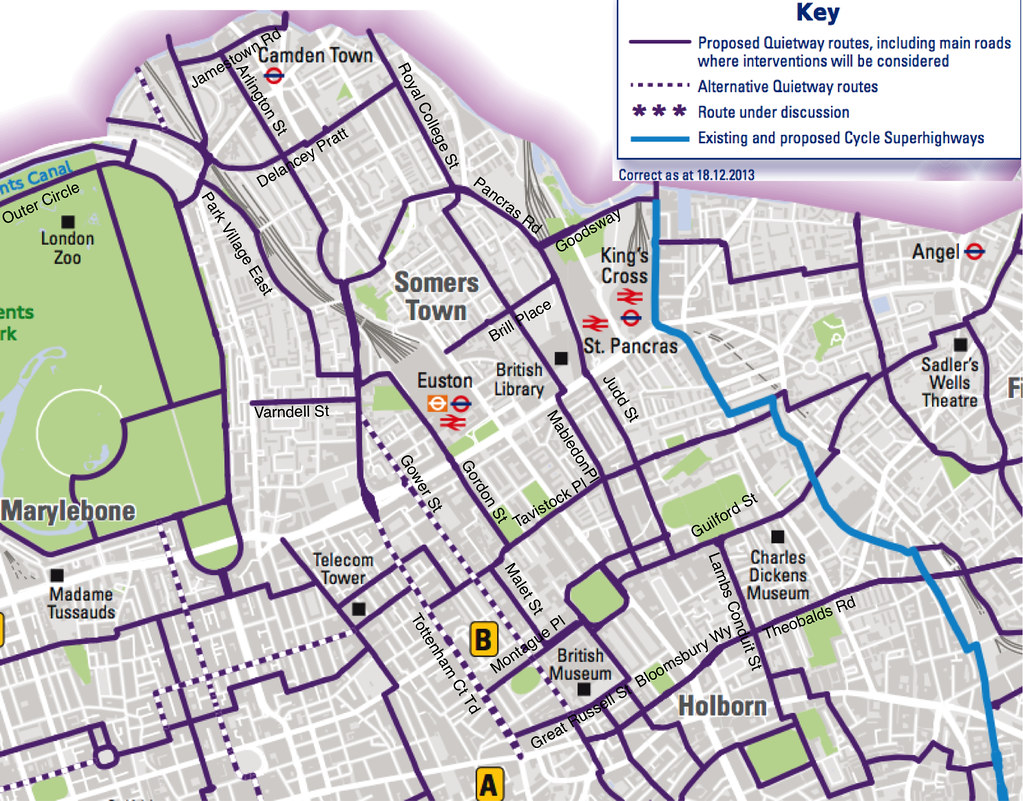 CLCG routes in Camden