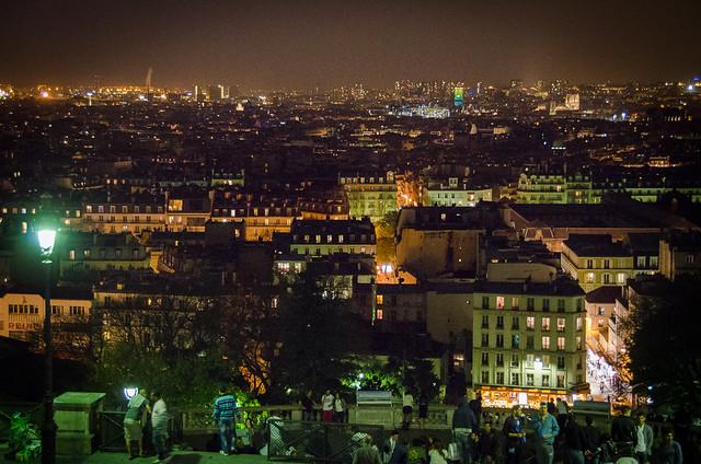 The view of Paris from the Sacré-Cœur