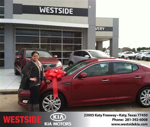 Thank you to Belkys Colon on your new 2014 #Kia #Optima from Orlando Baez and everyone at Westside Kia! #NewCar! by Westside KIA
