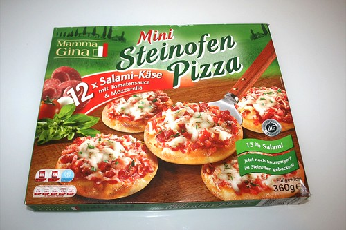 01 - Mamma Gina Mini Steinofen Pizza - Verpackung vorne / Boxing front