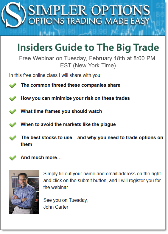 John Carter Big Trade Webinar