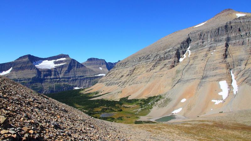 IMG_3982 Piegan Mountain/Glacier, Pollock Mountain and Mount Siyeh from Siyeh Pass Trail