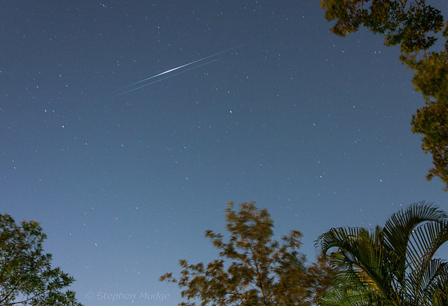 Twin Iridium satellites over Brisbane