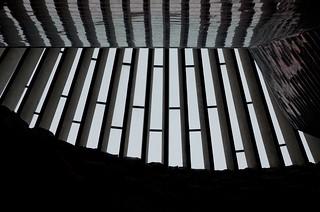 Image of Temppeliaukion kirkko. windows church finland helsinki temppeliaukiochurch temppeliaukionkirkko töölö dxoopticspro9 perfectphotosuite8