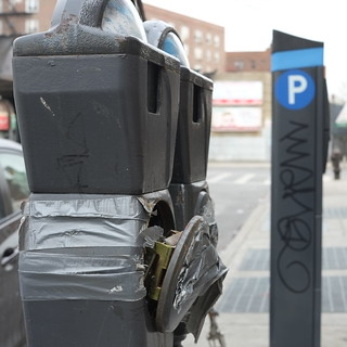 Parking meters, old vs new
