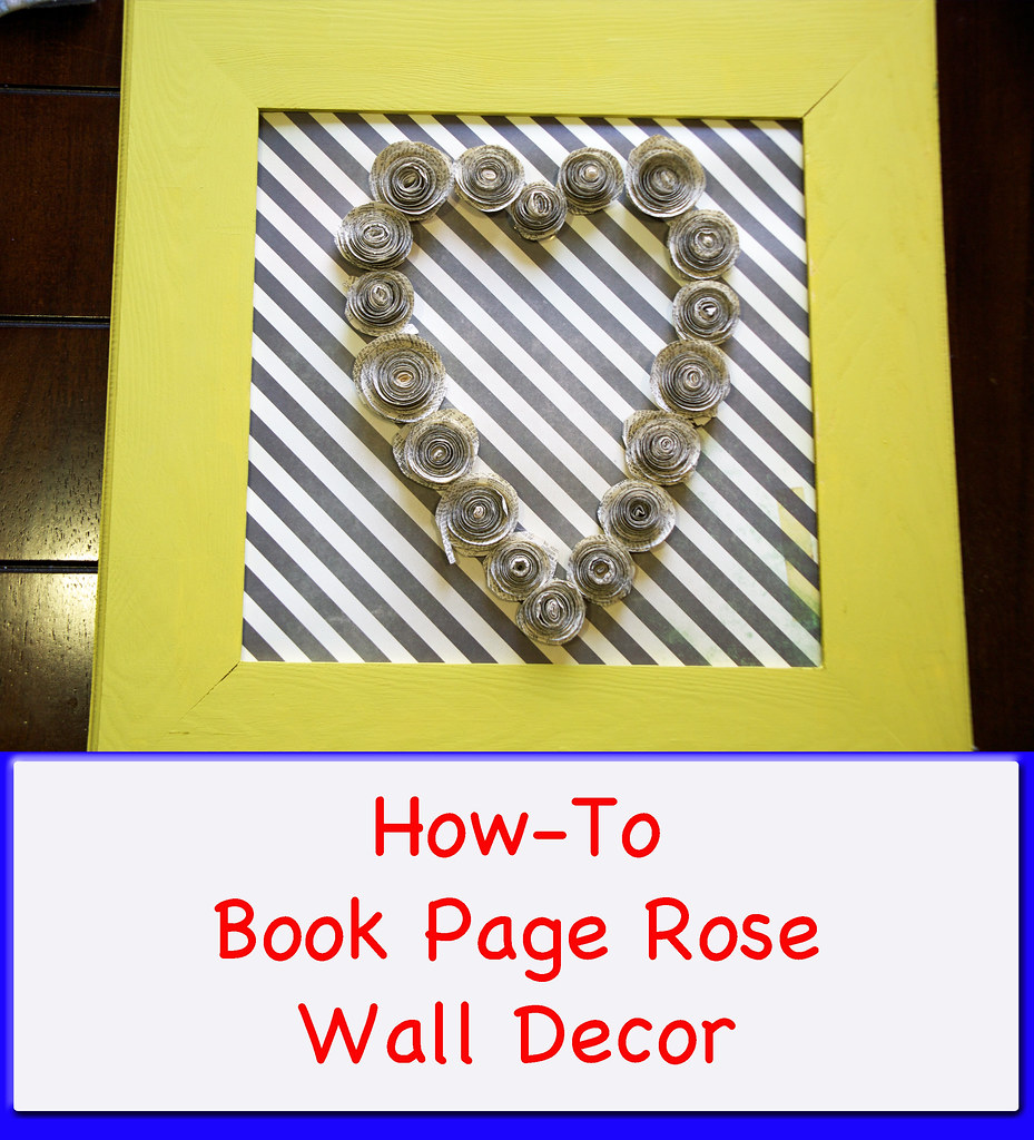 DIY Book Rose Wall Decor