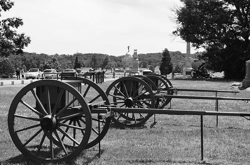 High Water Mark - Pickett's Charge 10 Looking towards Pennsylvania Monument, Gettysburg, Pennsylvania USA.