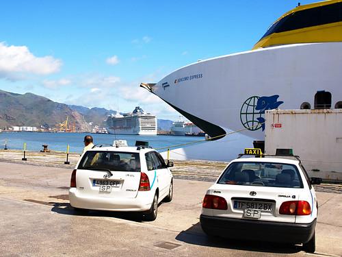 Taxis at Santa Cruz Port, Tenerife