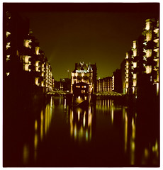 Speicherstadt by night