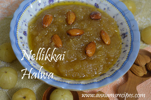 Nellikkai Halwa / jam (Gooseberry / Amla Halwa)