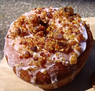 bacon brittle brioche donut from A Spoonful of Sugar in San Francisco
