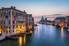 View on Grand Canal and Santa Maria della Salute Church from Accademia Bridge at Sunrise, Venice, Italy by anshar73