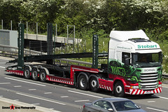 Scania R440 6x2 Tractor with 3 Axle Vehicle Transporter - PO14 VEW - H6839 - Harper - Eddie Stobart - M1 J10 Luton - Steven Gray - IMG_9391