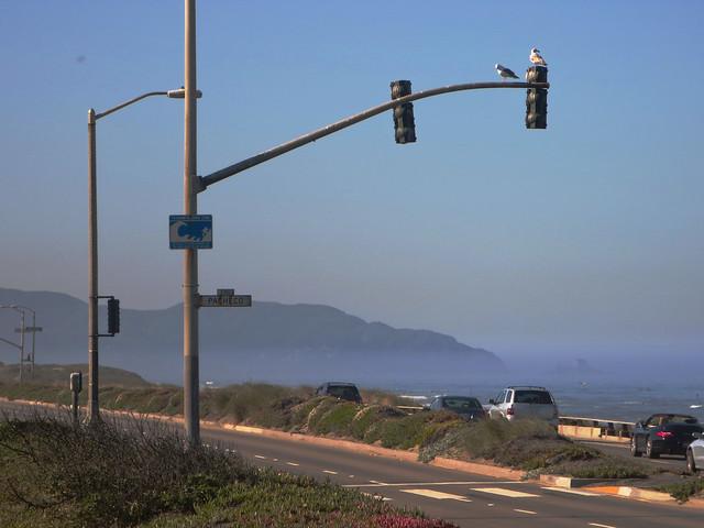 May 13, 2014 - Pollution visibility - Ocean Beach, San Francisco