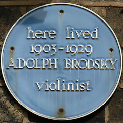Photo of Adolph Brodsky blue plaque