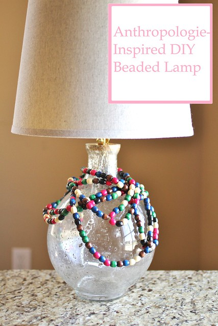 DIY Anthropologie Beaded Lamp Hack