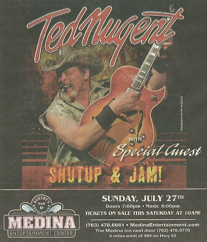 07/27/14 Ted Nugent @ Medina Entertainment Center, Medina, MN