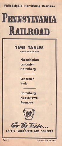 PRR 1950 Harrisburg Cover