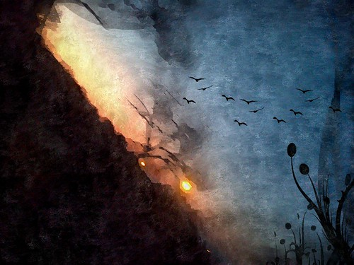 sunset nature vangogh photomanipulated