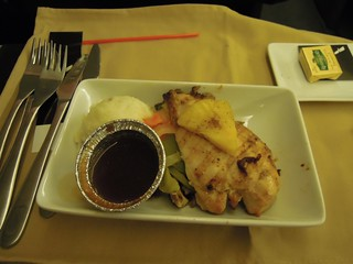 Dinner, AA 909, MIA - EZE