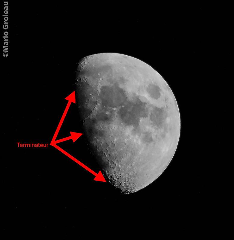 Le terminateur de la Lune