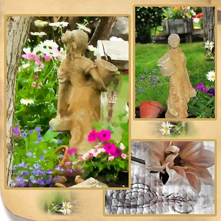 Girl In The Garden Photo Picture Collage